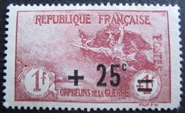 R1606/83 - 1922 - AU PROFIT DES ORPHELINS DE LA GUERRE - N°168 (*) - Cote : 36,00 € - France