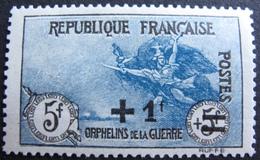 R1606/84 - 1922 - AU PROFIT DES ORPHELINS DE LA GUERRE - N°169a NEUF* - Cote : 220,00 € - France