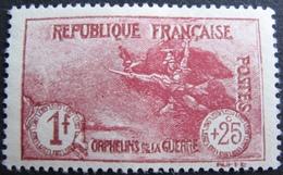 R1606/85 - 1926 - AU PROFIT DES ORPHELINS DE LA GUERRE - N°231 (*) - Cote : 48,00 € - France