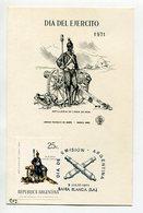 TARJETA FDC DIA DEL EJERCITO ARTILLERIA DE LINEA DE 1826 DIA DE EMISION 1971 BAHIA BLANCA ARGENTINA -LILHU - Militaria