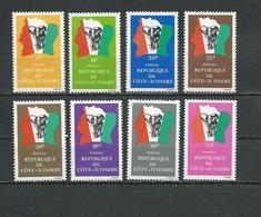 COTE IVOIRE Scott 662-666, 833 Yvert 641-645, 685, 787 (8) ** Cote 3,90 $ 1982-87 - Côte D'Ivoire (1960-...)