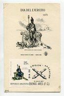 TARJETA FDC DIA DEL EJERCITO ARTILLERIA DE LINEA DE 1826 DIA DE EMISION 1971 BUENOS AIRES ARGENTINA -LILHU - Militaria