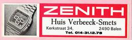 Sticker - Horloge ZENITH - Huis Verbeeck-Smets - Kerkstraat Balen - Stickers