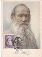 COUNT LEV N. TOLSTOI 1828~1910. OBLITERE 1960 ROMINESTI POSTALE - BLEUP - Schrijvers