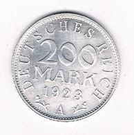 200 MARK 1923 A DUITSLAND /8005/ - [ 3] 1918-1933 : Republique De Weimar