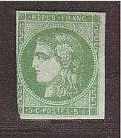 FRANCE Émission Bordeaux 5c Vert NEUF, Déf. - 1870 Bordeaux Printing