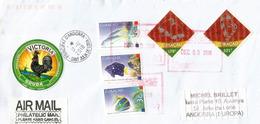 Belle Lettre De Curaçao, Timbres Hautes Faciales, Adressée Andorra, Avec Timbre à Date Arrivée - Curacao, Netherlands Antilles, Aruba