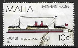 MALTE    -   1986 .   Y&T N° 740 Oblitéré.   Bateau - Malta