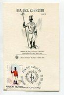 TARJETA FDC DIA DEL EJERCITO SARGENTO BATALLON PARDOS Y MORENOS DIA DE EMISION 1972 BAHIA BLANCA ARGENTINA -LILHU - Militaria