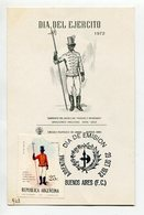 TARJETA FDC DIA DEL EJERCITO SARGENTO BATALLON PARDOS Y MORENOS DIA DE EMISION 1972 BUENOS AIRES ARGENTINA -LILHU - Militaria