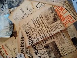 Lot 3.5 Kg Articles, Journaux & Courriers Divers Franco-Allemands Autour De La Guerre 1939-45 Hitler, Lyon-Soir, Nazi - Journaux - Quotidiens