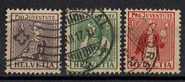 Schweiz 1917 // Mi. 133/135 O (032..231) - Schweiz