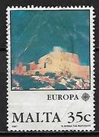MALTE    -   1987 .   Y&T N° 748 Oblitéré.   EUROPA.   Architecture  /  Eglise St-Joseph - Malta