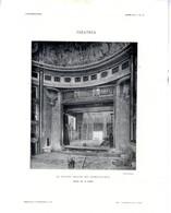 LE NOUVEAU THEATRE DES CHAMPS ELYSEES CADRE DE LA SEINE  ESCALIERS  -  2 PLANCHES ISSUE DE LA REVUE L ARCHITECTURE 1913 - Architecture