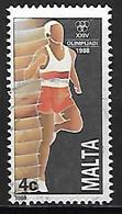 MALTE    -   1988 .   Y&T N° 782 Oblitéré  . JO De Séoul.  Course à Pied. - Malta
