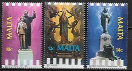 MALTE    -   1988 .   Y&T N° 770 à 772 ** .  Evènements Religieux.    Série Complète. - Malte