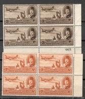 EGYPT1947:Michel306,308mnh** Blocks Of 4 - Poste Aérienne