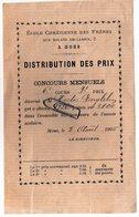 Ecole Chrétienne Des Frères Rue Roland De Lassus Mons - Hector Englebin 1905 - Diplomi E Pagelle