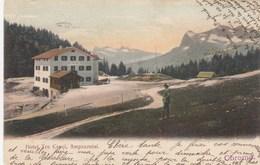 CORTINA D'AMPEZZO-BELLUNO-HOTEL = TRE CROCI =-CARTOLINA VERA FOTOGRAFIA- VIAGGIATA IL 17-10-1904 - Belluno