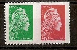 Marianne L'Engagée Adhésive à 0,80 € Et 0,95 € - Issu Du Carnet Salon D'Automne (2018) - 2018-... Marianne L'Engagée