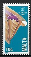 MALTE    -   1988 .   Y&T N° 783 **.    Plongeon, Natation - Malta
