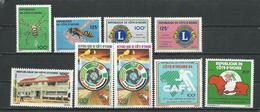 COTE IVOIRE Scott 710-711, 713-714, 712, 716-717, 708-709 Yvert 681-2, 683-4, 680, 687-8, 678-9 (9) ** Cote 14,00 $ 1984 - Côte D'Ivoire (1960-...)