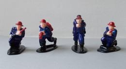 - Lot De 4 Figurines Pompiers - - Armee