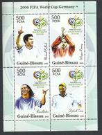 GUINE GUINEA GUINEE BISSAU 2005  FIFA WORLD CUP GERMANY 2006 COPPA DEL MONDO GERMANIA BLOCK SHEET BLOCCO FOGLIETTO MNH - Guinea-Bissau