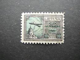 Lietuva Litauen Lituanie Litouwen Lithuania # 1922 Air Mail Used # Mi. 123 - Lituanie