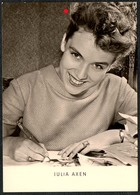 C0633 - Julia Axen - Autogrammkarte - Reichenbach Verlag DDR - Autographes