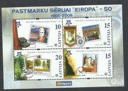 LETTLAND LETTONIA LATVIJA 2006 EUROPA BLOCK SHEET BLOCCO FOGLIETTO MNH - Lettonia