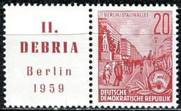 DDR - Mi 580/Zf = WZd 19 - ** Postfrisch (A) - 20/Zf Pf  Fünfjahreplan DEBRIA - [6] République Démocratique