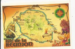 10x15   Contour  Géographique     Isle De La Réunion - La Réunion