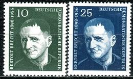DDR - Mi 593 / 594 - ** Postfrisch (A) - 10-25Pf  Bertolt Brecht - [6] République Démocratique