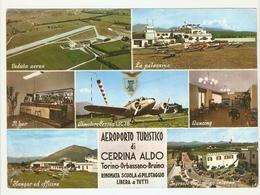 """CT--02719-- AEROPORTO TURISTICO DI """" ALDO CERRINA """"-TORINO-ORBASSANO-BRUINO- 7 VEDUTINE - Italia"""