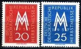 DDR - Mi 596 / 597 - ** Postfrisch (B) - 20-25Pf          Leipziger Herbstmesse 57 - [6] République Démocratique