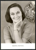 C0649 - TOP Marta Rafael - Autogrammkarte - Reichenbach Verlag DDR - Autographes