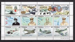 TONGA - 1992 History Of World War - The 50th Anniversary Of Outbreak Of Pacific War   M563 - Tonga (1970-...)