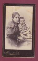 171218A - ROUMANIE MOLDAVIE ROUMAINE PHOTO CDV Marie Aida FOCSANI - Femme Et Enfant - Romania