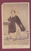 171218A - PHOTO CDV ANCIENNE W F WELLER - Femme - Anciennes (Av. 1900)