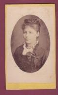 171218A - PHOTO CDV ANCIENNE -  Médaillon Jeune Femme - Anciennes (Av. 1900)