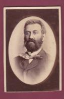 171218A - PHOTO CDV ANCIENNE -  Portrait Homme En Médaillon - Anciennes (Av. 1900)