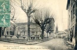 69 - Savigny - La Place Et Rue De L'église - France