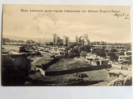 C.P.A. OUZBEKISTAN : SAMARCANDE, SAMARCAND,View From The Hazrat Hyzr Mosque,  2 Stamps - Ouzbékistan