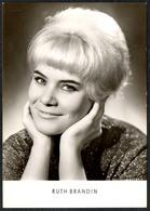 C0657 - TOP Ruth Brandin - Autogrammkarte - Reichenbach Verlag DDR - Autographes