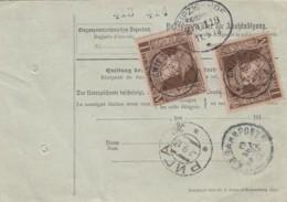 AD Bayern Paketkarte 1913 - Bavière