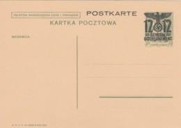 Deutsches Reich General Gouvernemt Postkarte P6 1940 - Germania