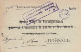 Deutsche Kriegsgefangenensendung POW Postkarte 1917 - Germania