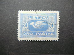 Lietuva Lithuania Litauen Lituanie Litouwen # 1921 Used # Mi. 102x Planes Airmail - Lituanie