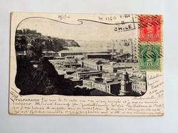 C.P.A. : CHILE : VALPARAISO, 2 Sellos En 1904 - Chile